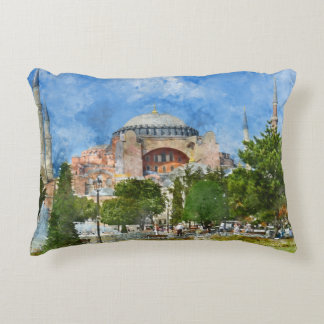 Hagia Sophia in Sultanahmet, Istanbul Decorative Pillow