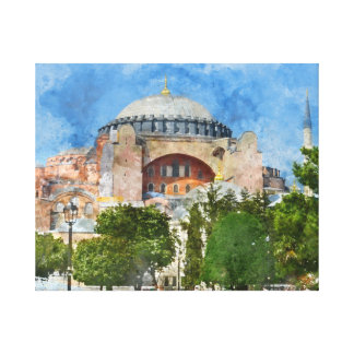 Hagia Sophia in Sultanahmet, Istanbul Turkey Canvas Print