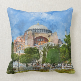 Hagia Sophia in Sultanahmet, Istanbul Turkey Throw Pillow