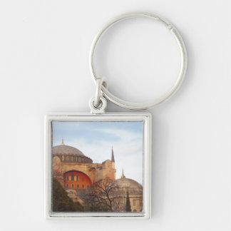Hagia Sophia inaugurado por el bizantino Llavero Cuadrado Plateado