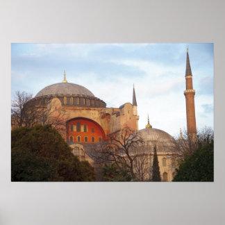 Hagia Sophia inaugurated by the Byzantine Print