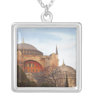 Hagia Sophia inaugurated by the Byzantine Silver Plated Necklace