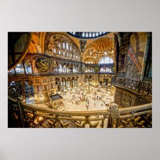 Hagia Sophia Interior in Istanbul Posters