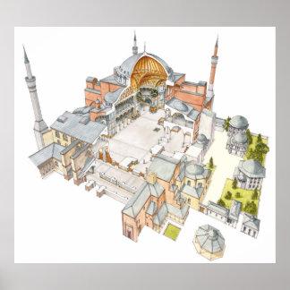 Hagia Sophia. Istambul Turquey. Poster