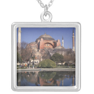 Hagia Sophia, Istanbul, Turkey Silver Plated Necklace