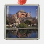 Hagia Sophia, Istanbul, Turkey Square Metal Christmas Ornament