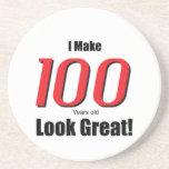 ¡Hago 100 años de la mirada grandes! Posavasos Para Bebidas