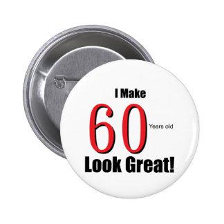 ¡Hago 60 años de la mirada grandes! Pin