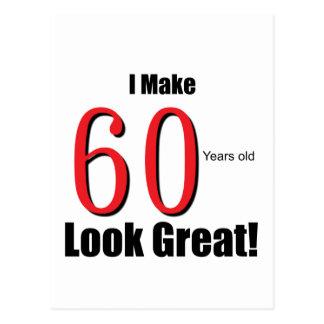 ¡Hago 60 años de la mirada grandes! Postales