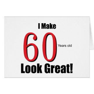 ¡Hago 60 años de la mirada grandes! Tarjeta De Felicitación