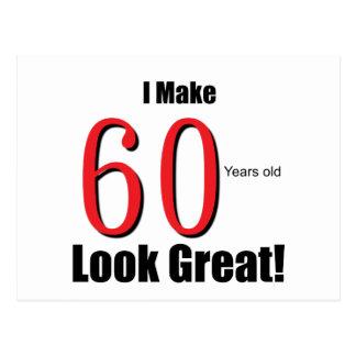 ¡Hago 60 años de la mirada grandes! Tarjetas Postales