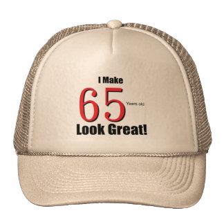 ¡Hago 65 años de la mirada grandes! Gorro