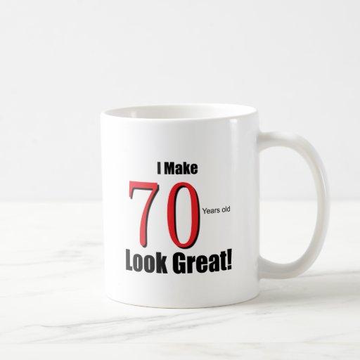 ¡Hago 70 años de la mirada grandes! Tazas