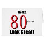 ¡Hago 80 años de la mirada grandes! Tarjetón