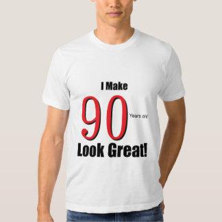 ¡Hago 90 años de la mirada grandes!! Playeras