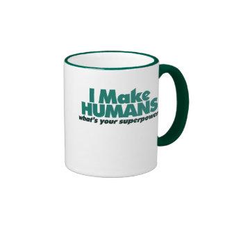 Hago a los seres humanos (el humor del embarazo) tazas de café