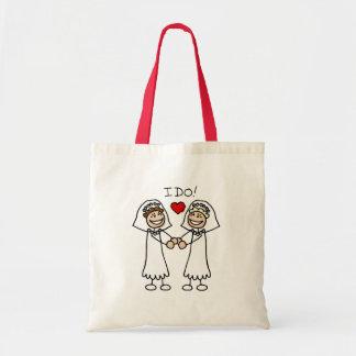 Hago a novias bolsa tela barata