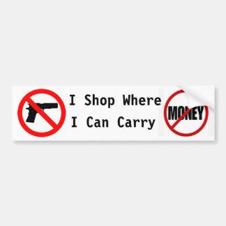 Hago compras donde puedo llevar… pegatina para auto