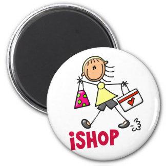 HAGO COMPRAS figura camisetas y regalos del palill Imán Redondo 5 Cm