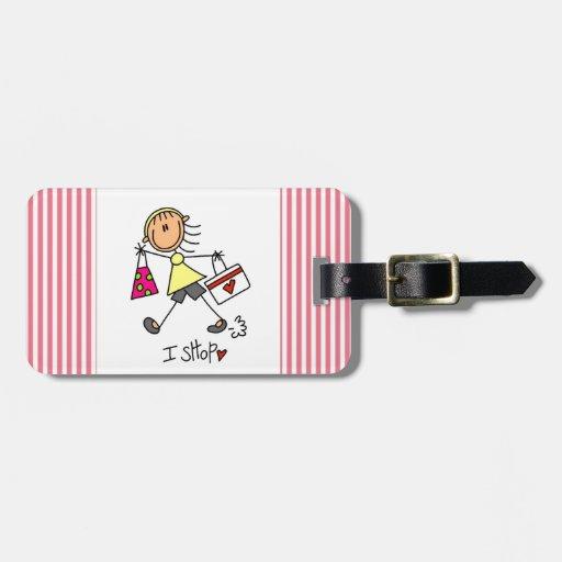 Hago compras figura chica del palillo etiquetas para maletas
