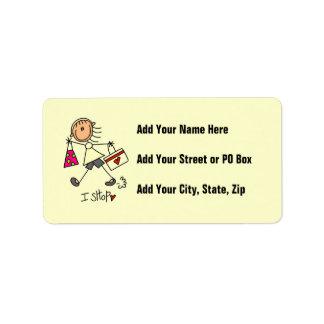 Hago compras figura chica del palillo etiquetas de dirección