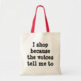 Hago compras porque las voces me dicen empaquetar