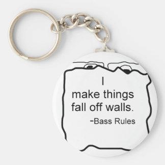 Hago cosas me caigo de las paredes. ¡Reglas bajas! Llavero Personalizado