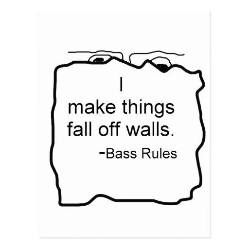 Hago cosas me caigo de las paredes. ¡Reglas bajas! Postales