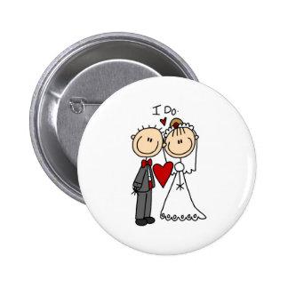 Hago el botón de la ceremonia de boda pin redondo de 2 pulgadas