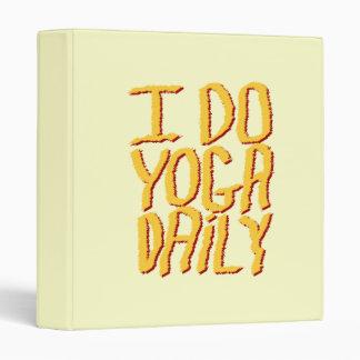"""Hago el diario de la yoga. Amarillo Carpeta 1"""""""