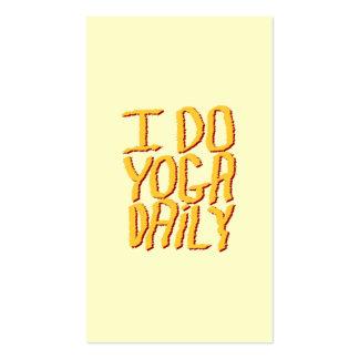 Hago el diario de la yoga. Amarillo Tarjetas De Visita