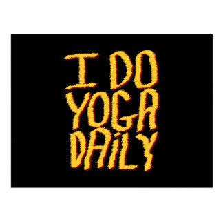 Hago el diario de la yoga. Amarillo y negro Postales