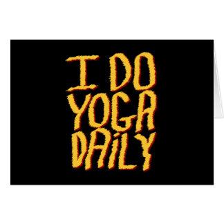 Hago el diario de la yoga. Amarillo y negro Tarjeta De Felicitación