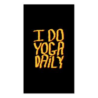 Hago el diario de la yoga. Amarillo y negro Tarjetas De Visita