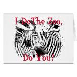 ¿Hago el parque zoológico, hace usted? Felicitacion