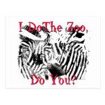 ¿Hago el parque zoológico, hace usted? Tarjetas Postales