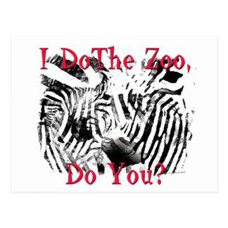 ¿Hago el parque zoológico, hace usted? Tarjeta Postal