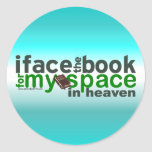 Hago frente al libro para Myspace Etiquetas Redondas