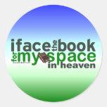 Hago frente al libro para Myspace Pegatina Redonda