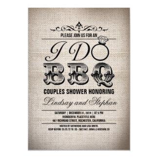 Hago la invitación de la ducha de los pares de la invitación 12,7 x 17,8 cm