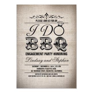 Hago la invitación del fiesta de compromiso de la invitación 12,7 x 17,8 cm