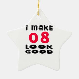 Hago la mirada 08 buena adorno de cerámica en forma de estrella