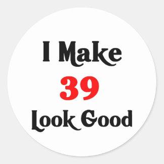 Hago la mirada 39 buena pegatina redonda
