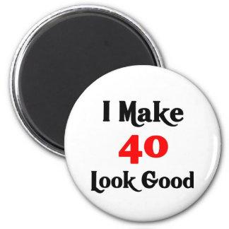 Hago la mirada 40 buena imán redondo 5 cm
