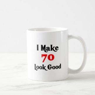 Hago la mirada 70 buena taza básica blanca