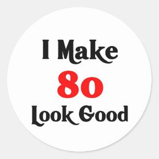 Hago la mirada 80 buena etiquetas redondas