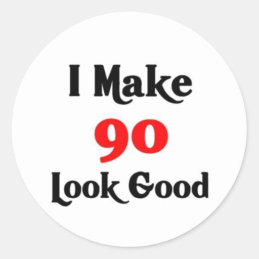 Hago la mirada 90 buena pegatina redonda
