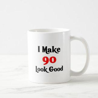 Hago la mirada 90 buena taza básica blanca