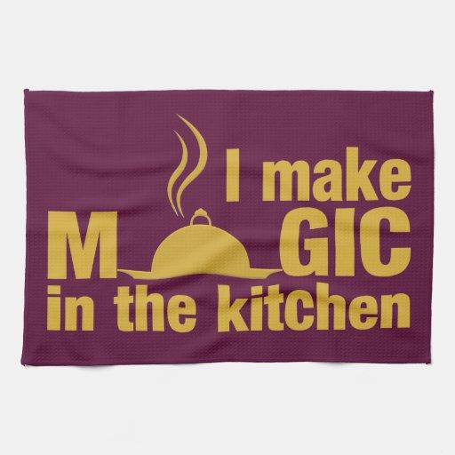 Hago la toalla de cocina de encargo mágica