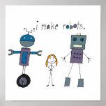 Hago los robots (el chica) impresiones